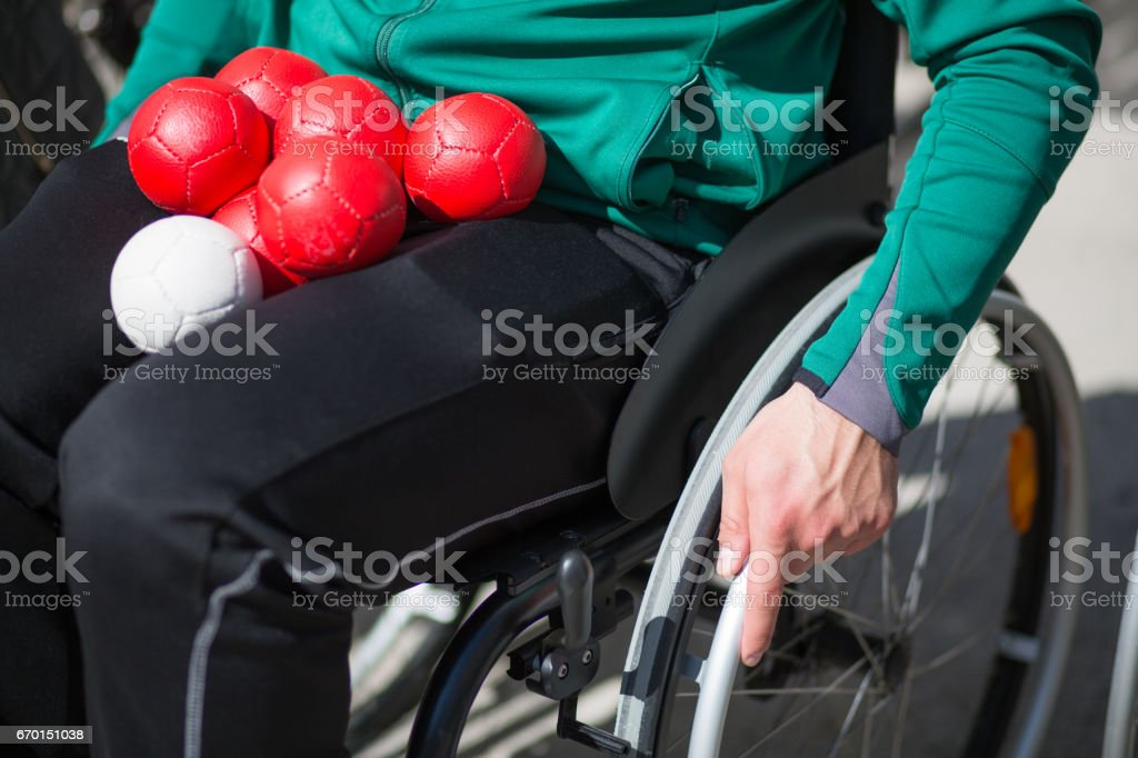 man in a wheelchair stock photo