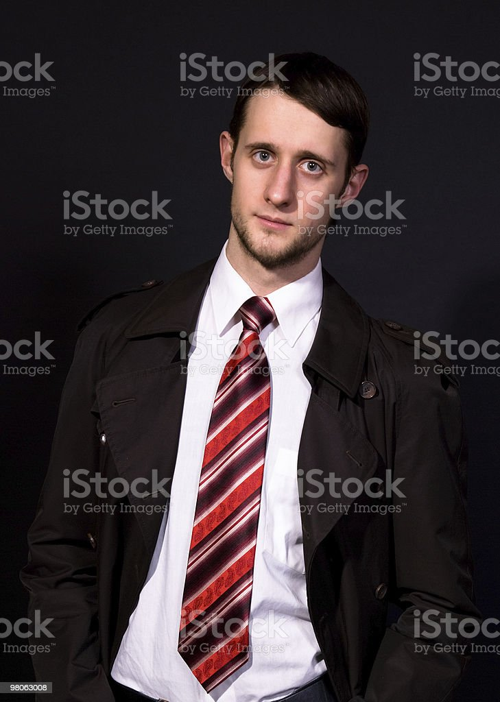 man in a white shirt and tie royalty-free stock photo