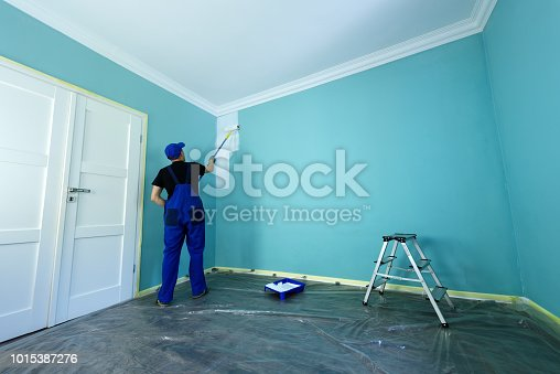 istock Man in a working overall 1015387276