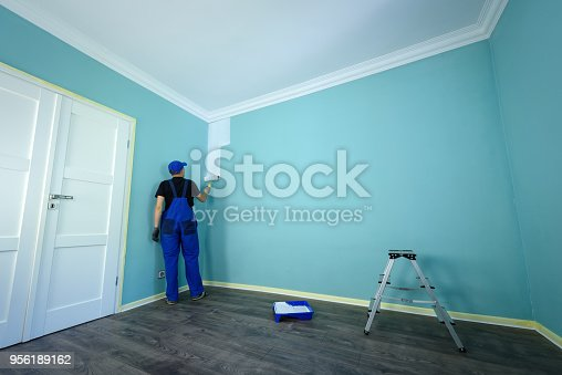 istock Man in a working overall 956189162