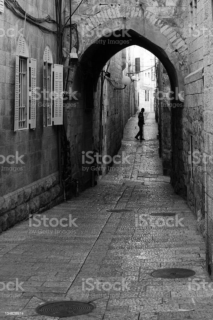 Man in Alley royalty-free stock photo