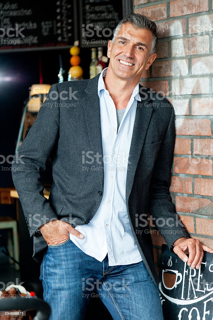 man in bistro royalty-free stock photo