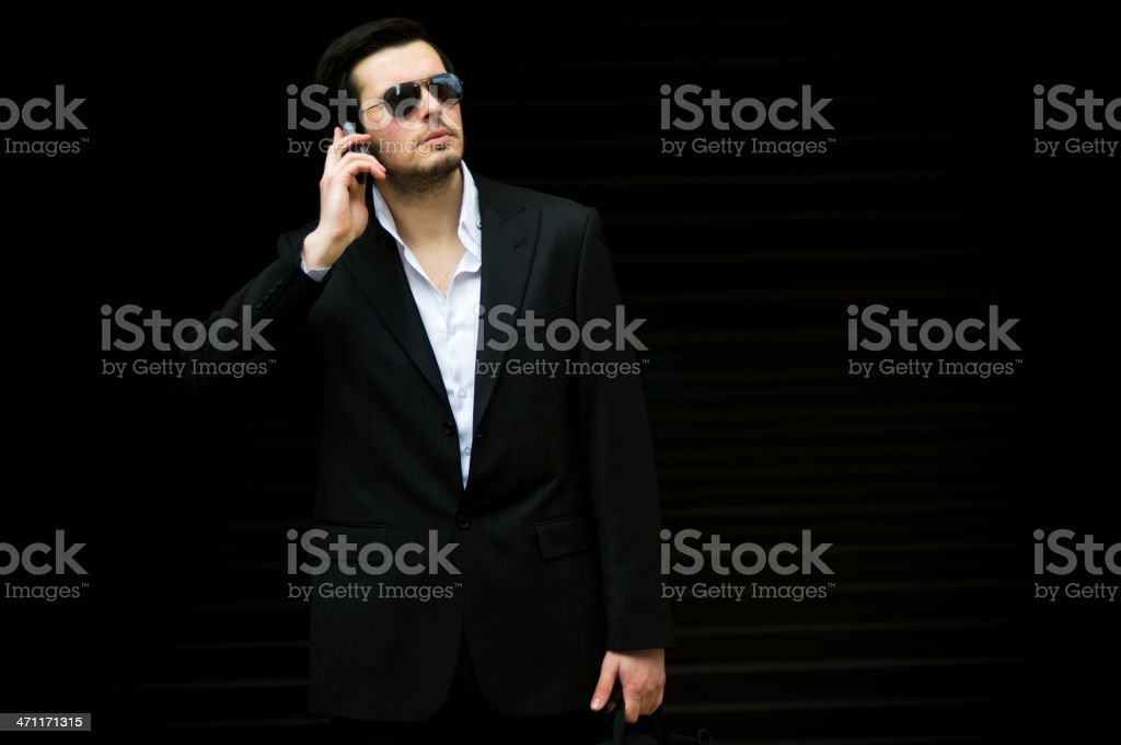 Man in Black royalty-free stock photo