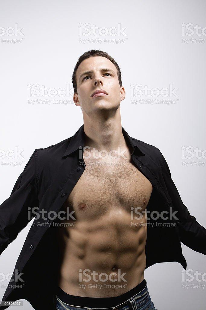 Man in black shirt royalty-free stock photo