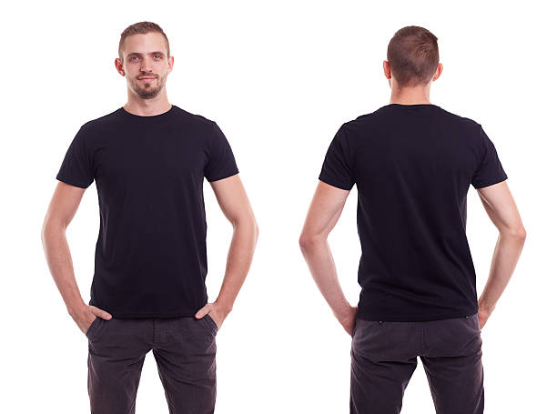 man in black t-shirt - t shirt stock photos and pictures