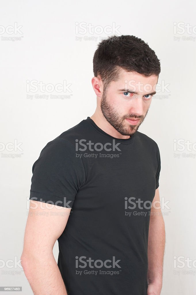 man in black t-shirt royalty-free stock photo