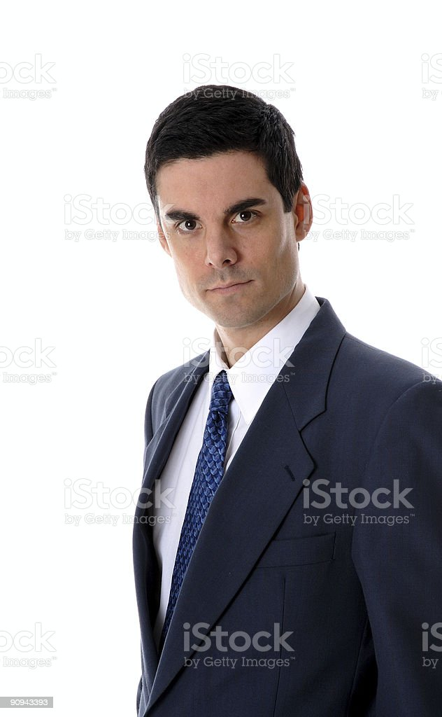 Man in blue royalty-free stock photo