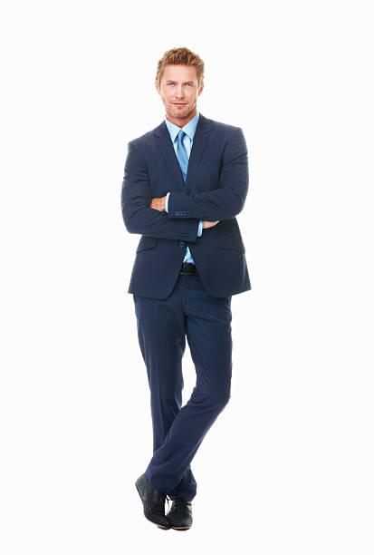 実りあるビジネスの男性 - 腕組み スーツ ストックフォトと画像