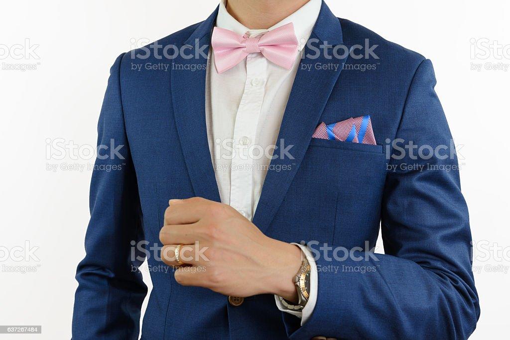 Anzug fliege blauer Blauer Anzug