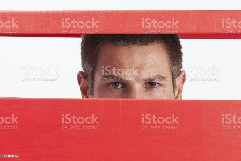 man in box royalty-free stock photo