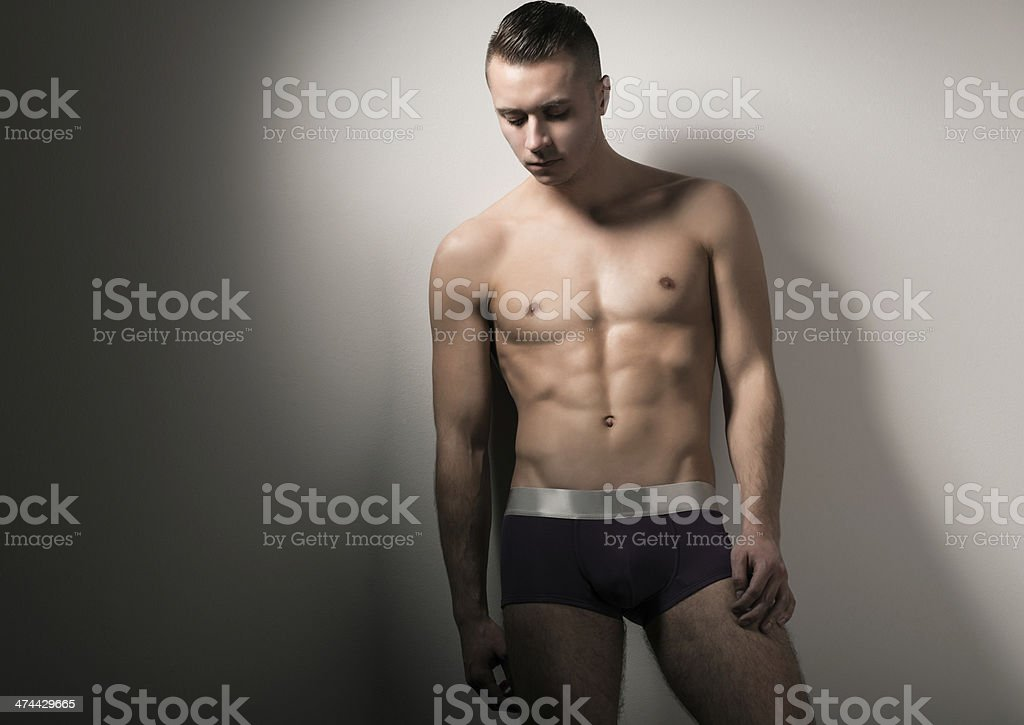Man in briefs stock photo