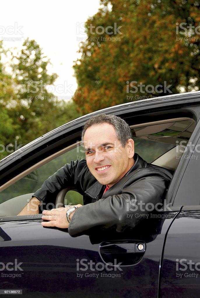 Man in car royalty-free stock photo