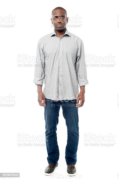 Man In Casuals Isolated On White Stock Photo - Download Image Now