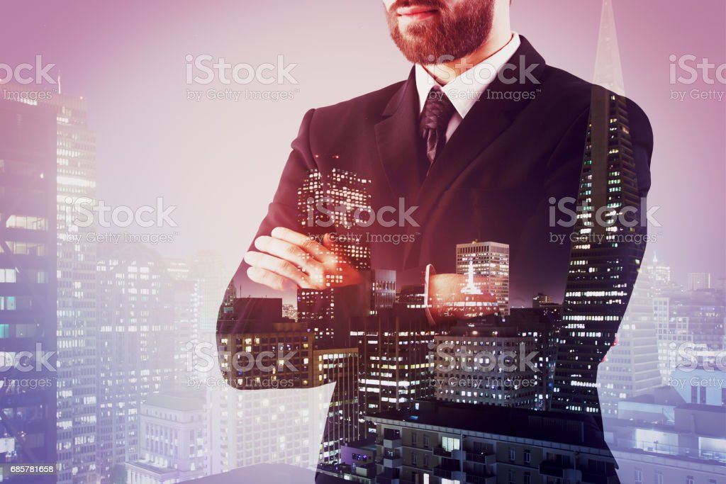 Man in city royalty-free stock photo