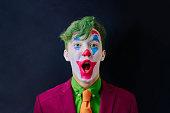 istock Man in clown makeup 1220791738