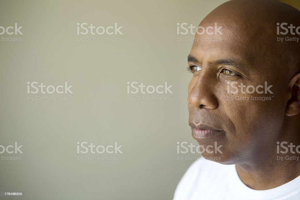 Man in deep thought royalty-free stock photo