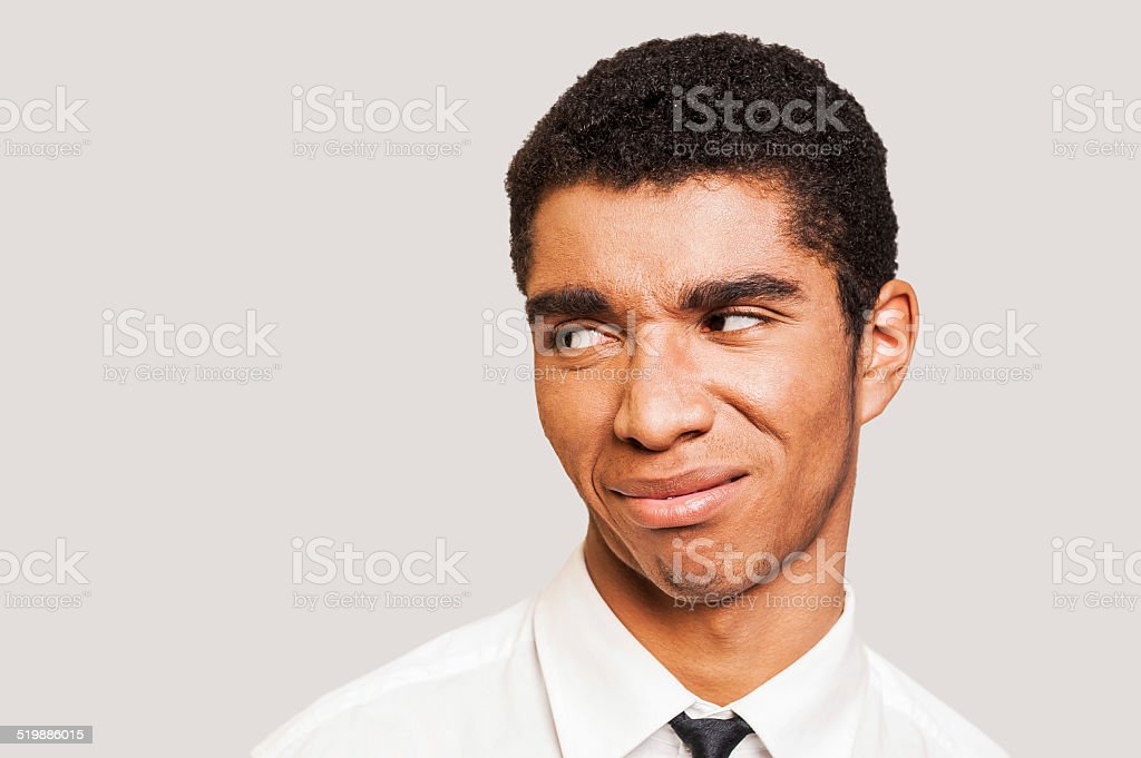 Man in disbelief. stock photo