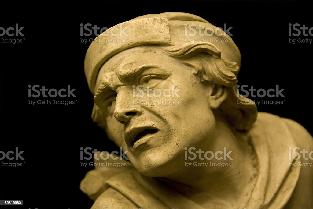 Man in dispair statue royalty-free stock photo