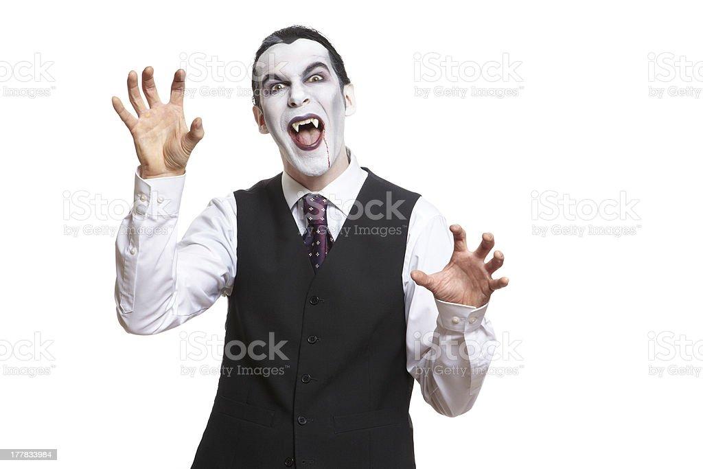 Man in dracula fancy dress costume royalty-free stock photo