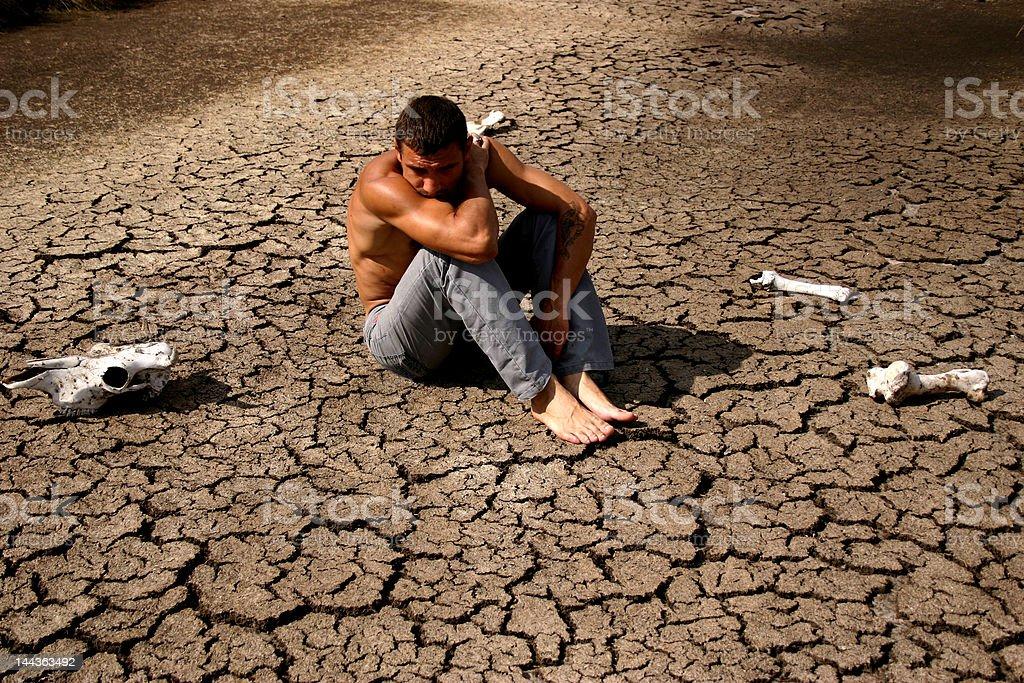 man, stress, emotion, outdoor, drought