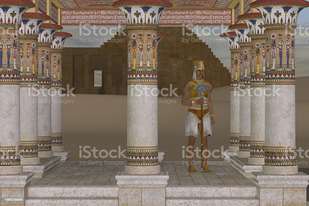 Man in Egyptian Clothes royalty-free stock photo