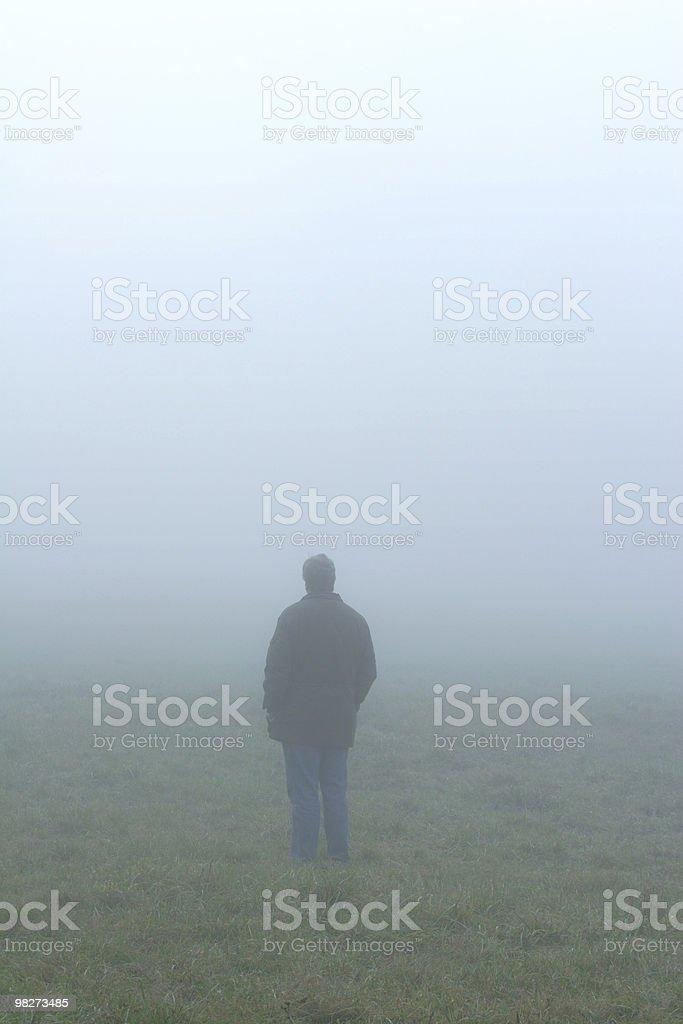 Man in Fog royalty-free stock photo