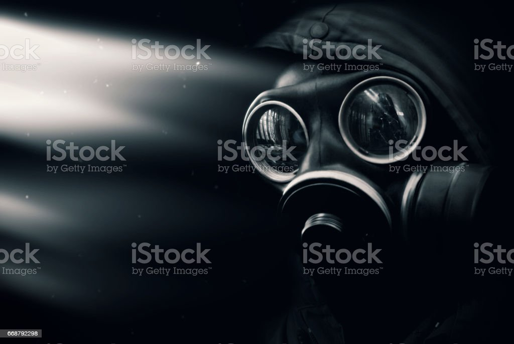 Man in gas mask – Foto