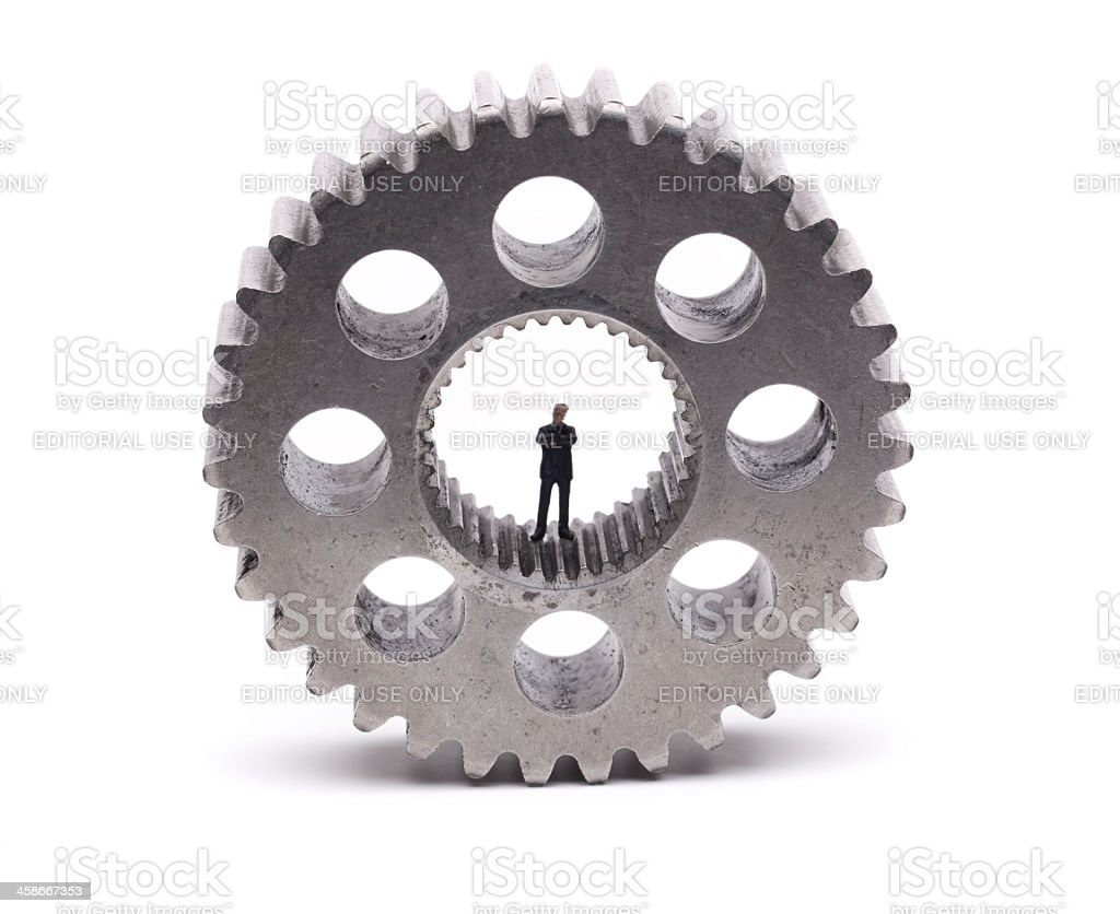 Man in Gear royalty-free stock photo