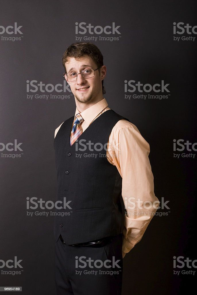 man in glasses and a tie royalty-free stock photo