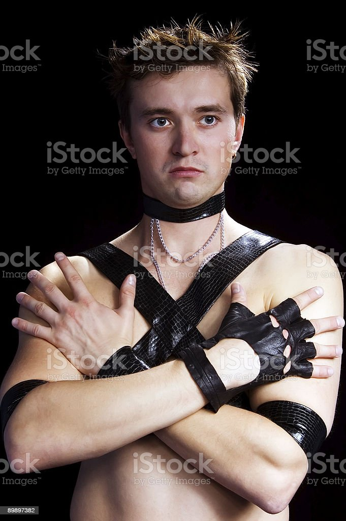 man in glove royalty-free stock photo