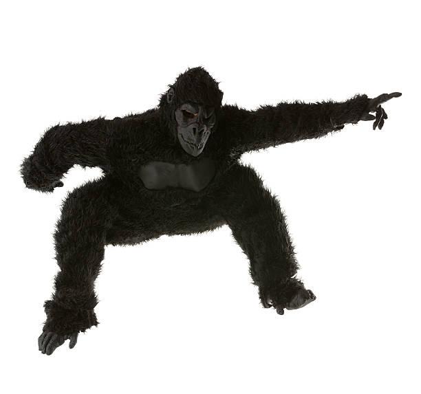 Hombre en traje de salto gorilla - foto de stock