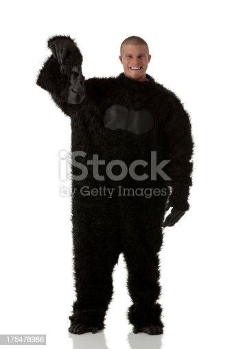 istock Man in gorilla costume 175478986