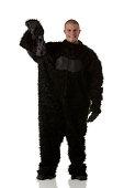 Man in gorilla costume