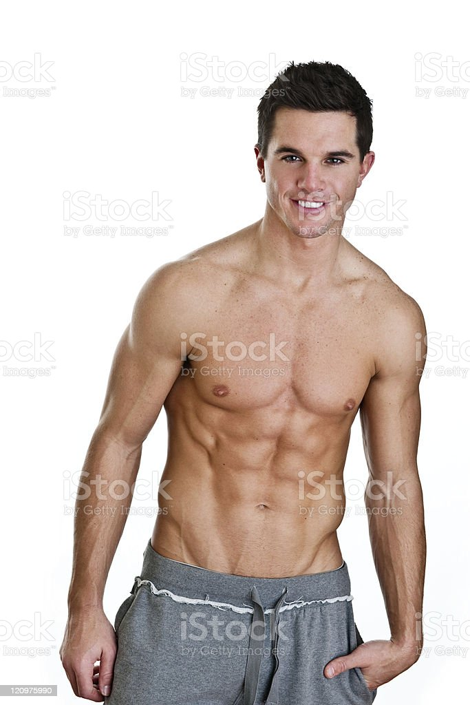Man in great physical shape royalty-free stock photo