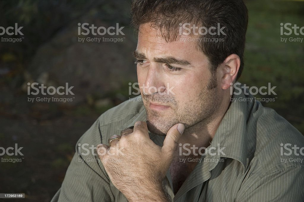 Man in Grief (series) royalty-free stock photo