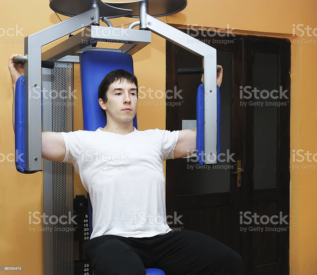 Man in gym royalty-free stock photo
