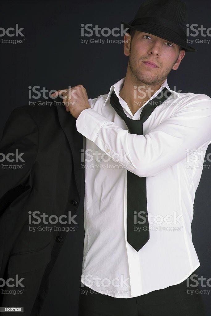 Uomo in cappello e abito foto stock royalty-free