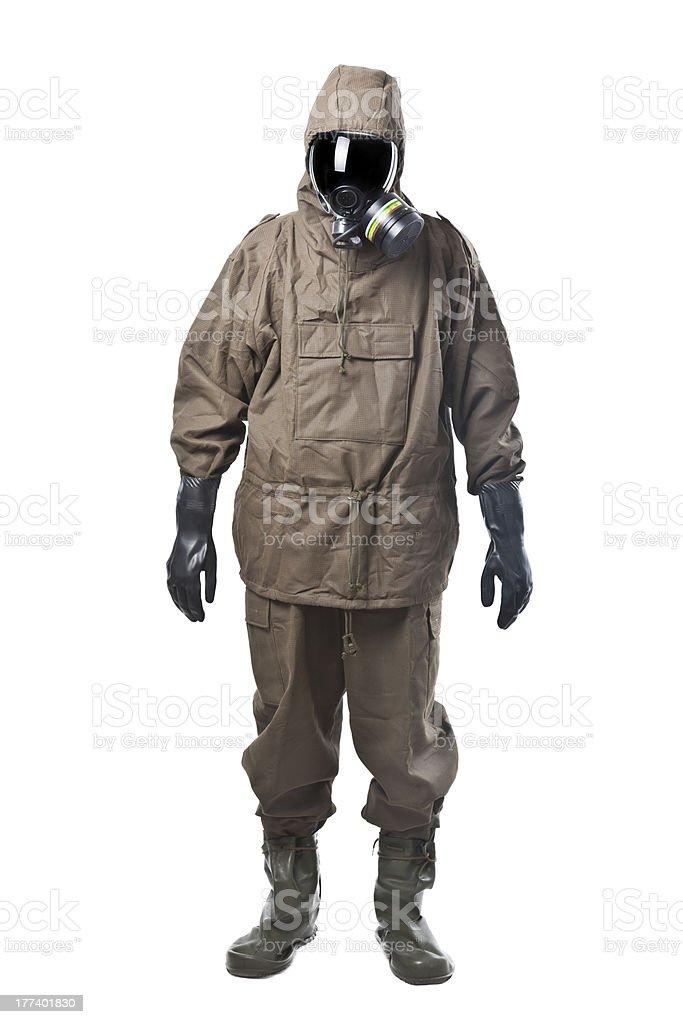 Man in Hazard Suit stock photo