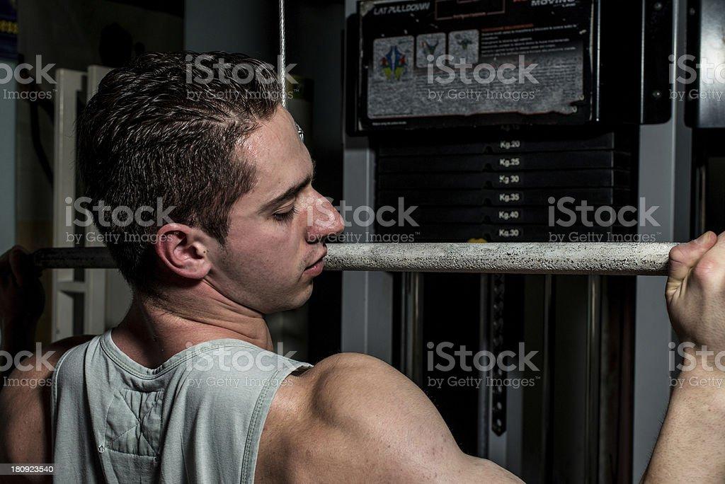 Man in health club royalty-free stock photo