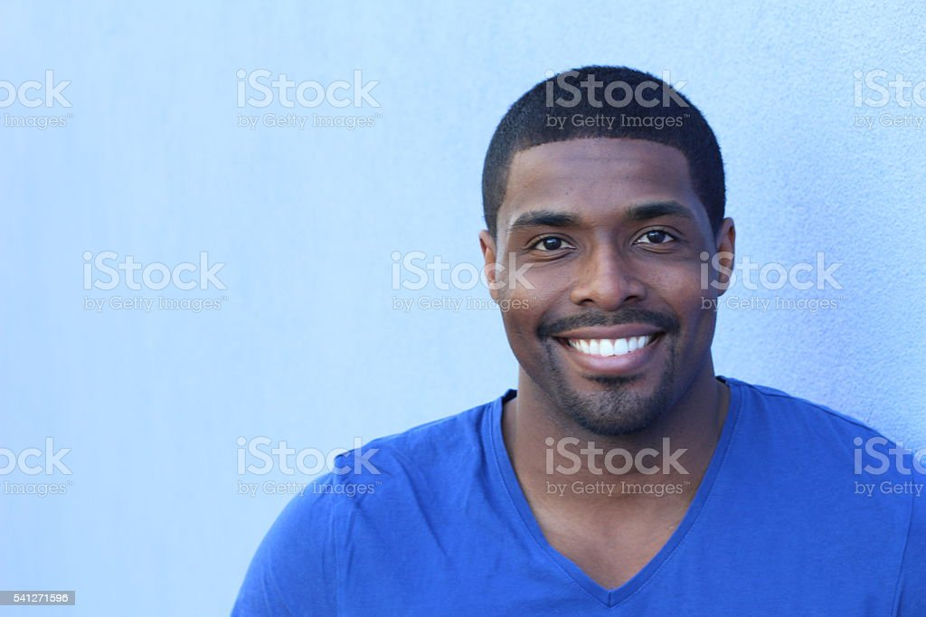 Man in his 20s with a perfect smile stock photo