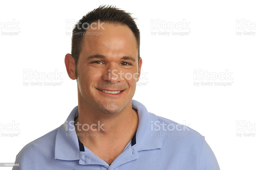 Man in his 40s smiling royalty-free stock photo