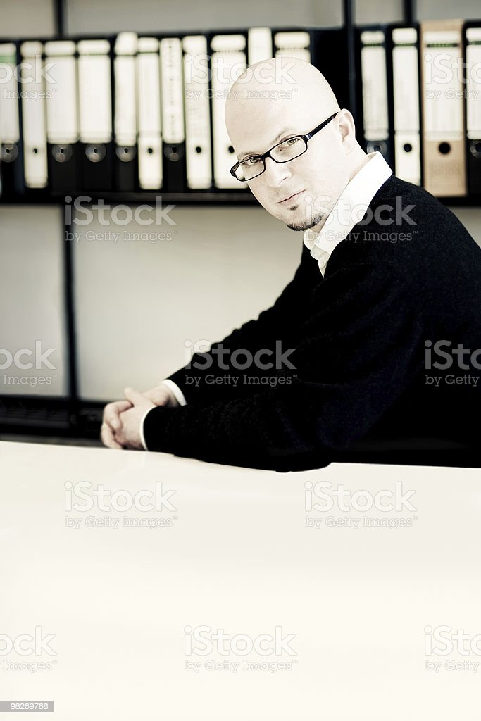 Man in his bureau royalty-free stock photo