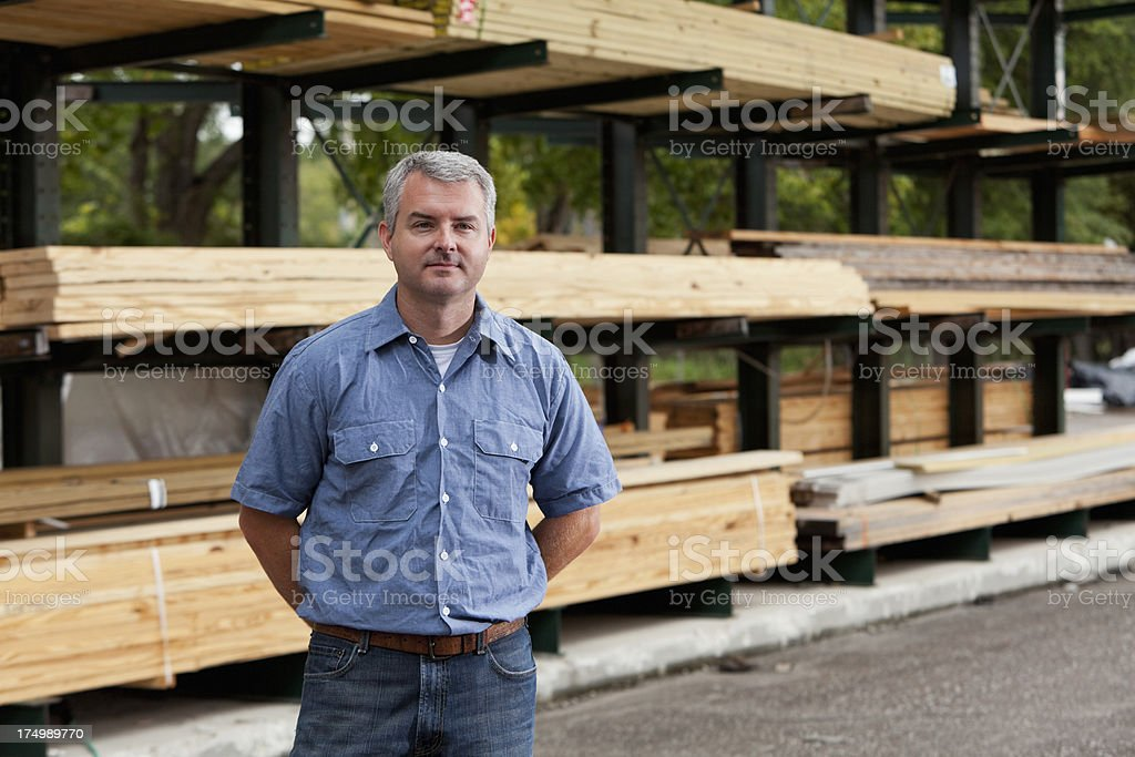 Man in home improvement store royalty-free stock photo