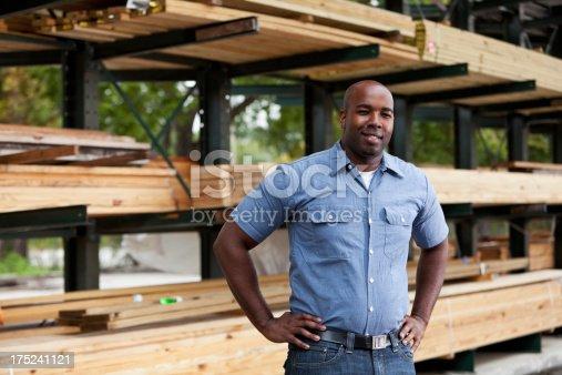 istock Man in home improvement store 175241121
