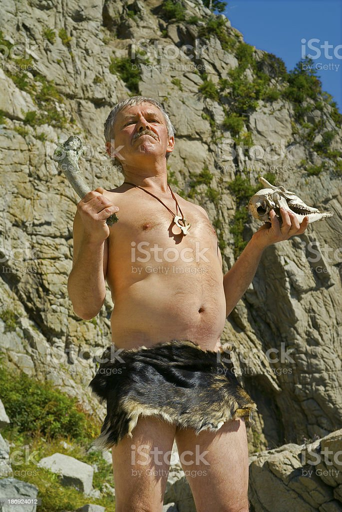 Man in loin-cloth stock photo