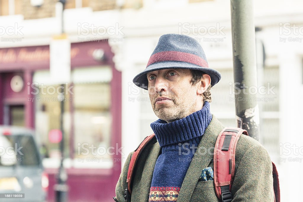 Man in London royalty-free stock photo