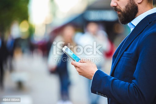 istock Man in London 494418544