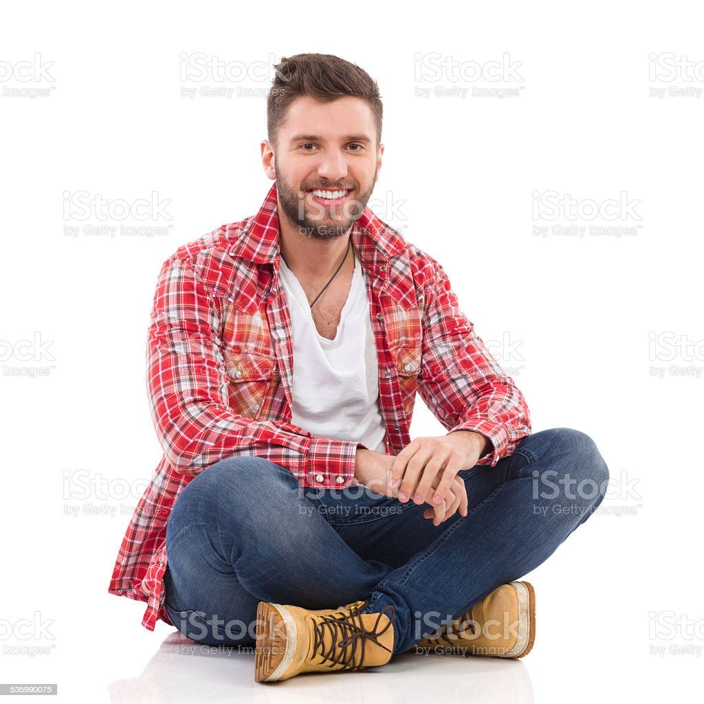 Homme en Chemise de bûcheron salon - Photo