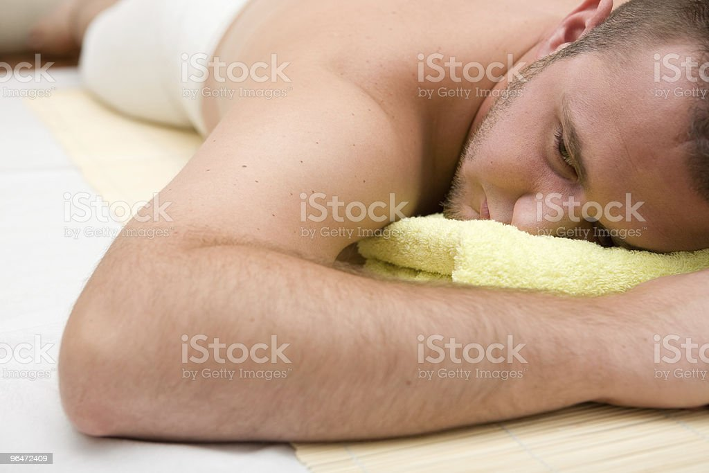 man in massage royalty-free stock photo