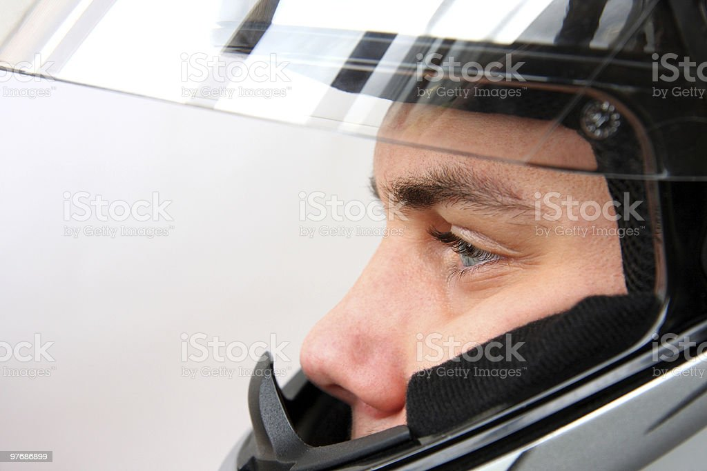 man in motorbike helmet royalty-free stock photo